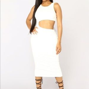 Fashion nova midi cut out dress